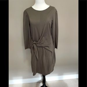 Dynamite Large 3/4 Sleeve Front Tie Dress